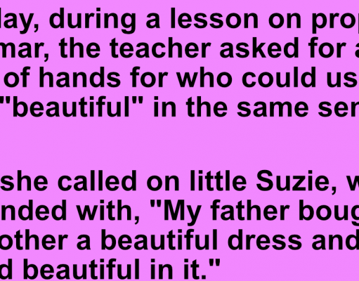 Teacher asked student to use the word beautiful